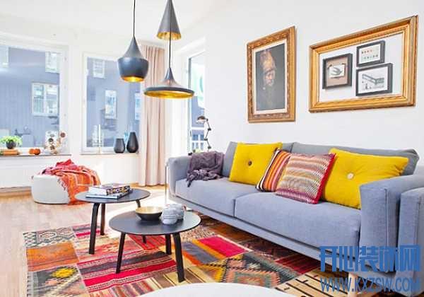 客厅地毯怎么铺好看?缤纷色彩点亮宽阔空间