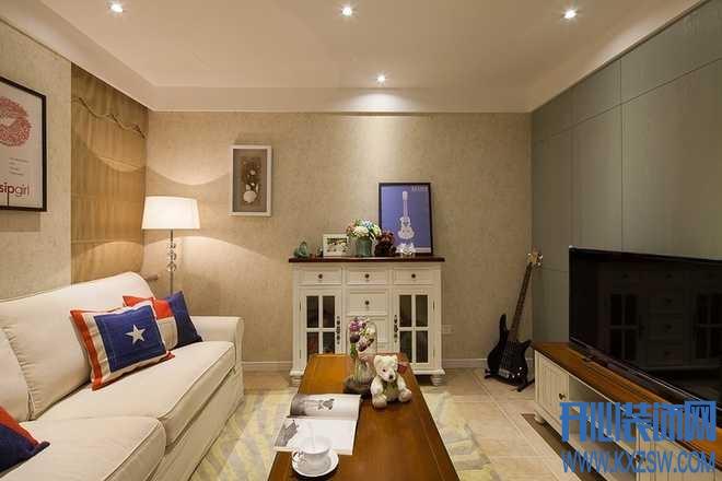 小空间智改造,美式乡村客厅配饰的绝妙搭配
