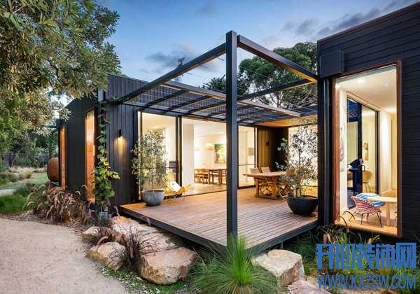 不要让自建房的院子空着,圈一个庭院出来让心灵去旅行