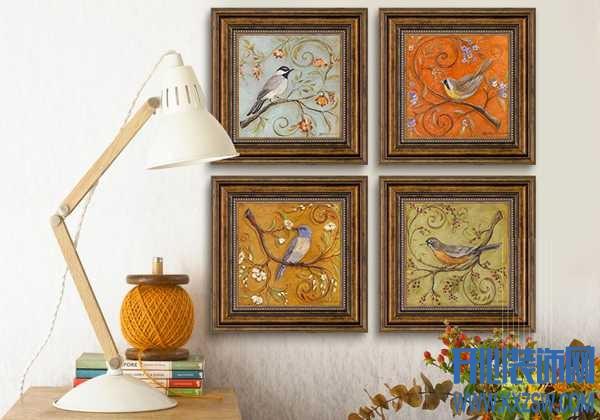 墙上晕染开的古典气息,只因一幅复古装饰画