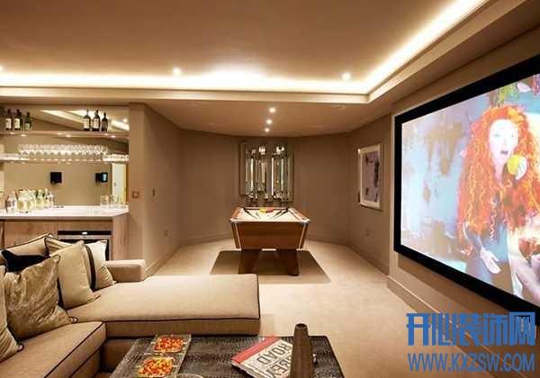 别墅家庭影院设计,室内健身房和家庭娱乐设施布局
