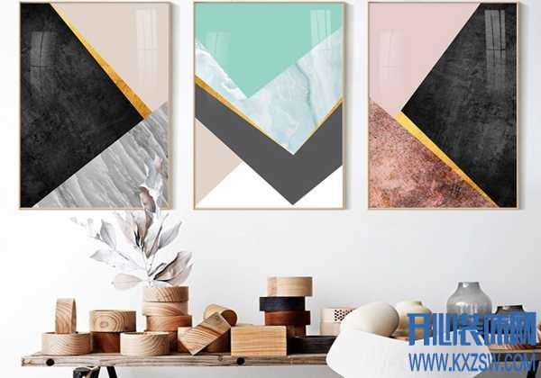 炫酷几何装饰画,让家的美来的更猛烈一些