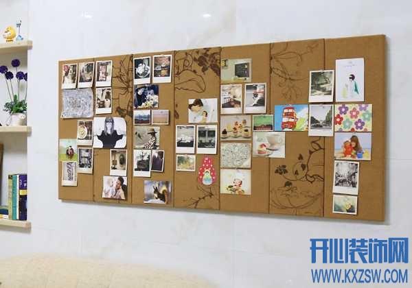 软木照片墙布置,让孩子体验手工的乐趣
