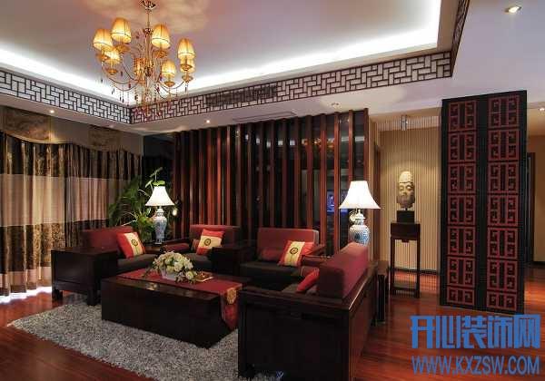 偏爱红色的装饰元素,居室主题显中式风情