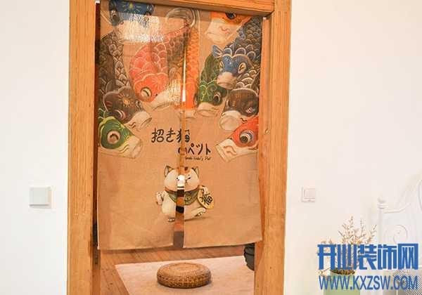 简直不能再文艺,日式门帘每一个文艺家庭的装饰符号