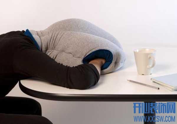 午休时间睡眠不再翻来覆去,鸵鸟枕头拯救趴桌子睡的各种不舒服