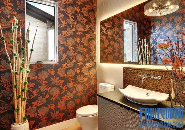 美从来不分场合,卫生间一样可以贴美美的墙纸