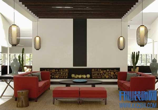 红色沙发与客厅如何和谐共处,还得看你的搭配功底