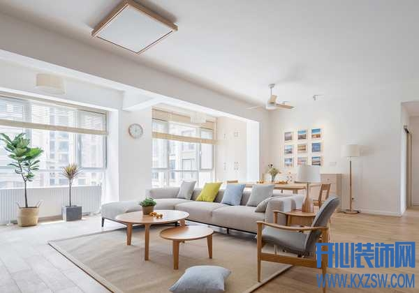 105平方的住宅用日式风装饰,开启人与家具之间的对话模式