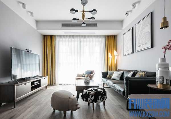 浅灰色地板配什么颜色墙面,能够凸显家的性冷淡气质