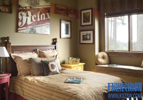 要简约也要个性,分享3款男生适用的美式卧室设计
