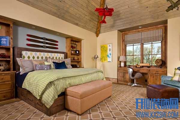 最具潮流感男生卧室装修之兼具时尚古典的美式乡村卧室