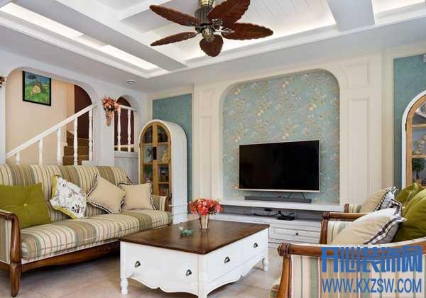 观美式电视背景墙装修效果图,体会背景墙流露的美式风味