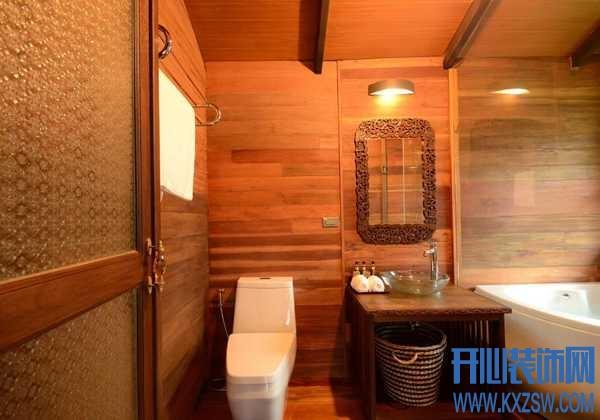 卫生间也能装修成异域风?东南亚卫生间的个性私密空间