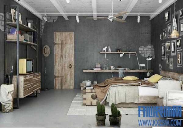 室内工业风格设计要领之素色怀旧色彩的搭配