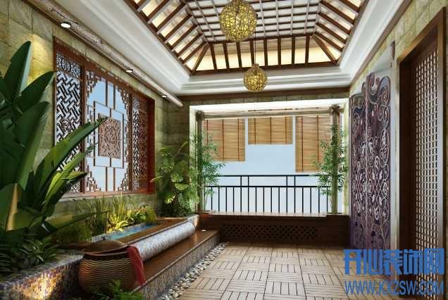 中式家装潮流空间之中式入户花园,门外汉怎么搞定中式入户花园