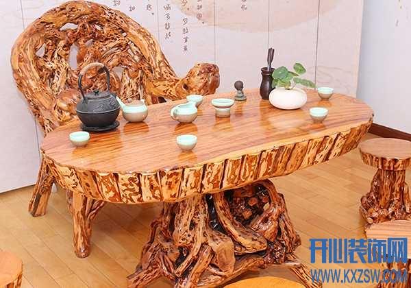 """老树根也有大价值,根雕茶几成中式客厅""""扛把子""""的存在"""