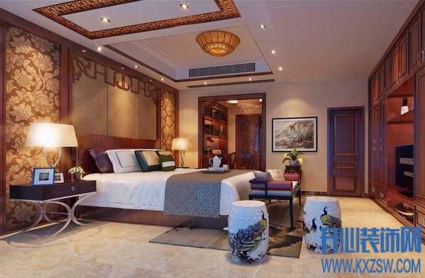 中式家装潮流空间之中式风格卧室吊顶,剖析中式卧室吊顶设计