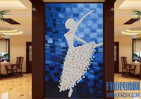 多幅欧式玄关油画壁纸装饰效果欣赏