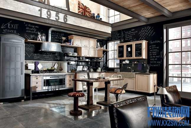 工业风格装修图片,诠释硬朗中性家居风采
