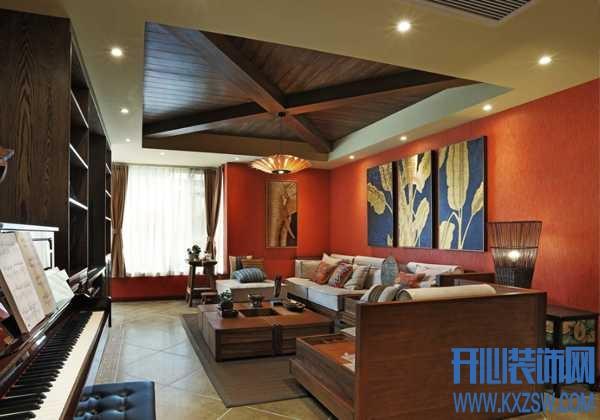 异域东南亚客厅设计说明,东南亚客厅的大气与优雅如何打造