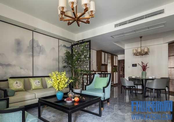 125平房子配上新中式装修,让摩羯座的主人好欢喜