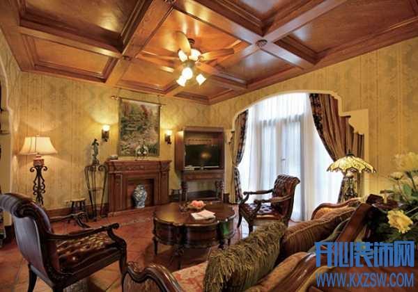古堡典雅的美式乡村别墅装修,清新美式乡村范欣赏