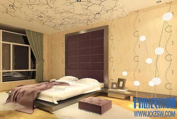 没钱也能嘚瑟,简单壁纸打造的现代时尚卧室赏析