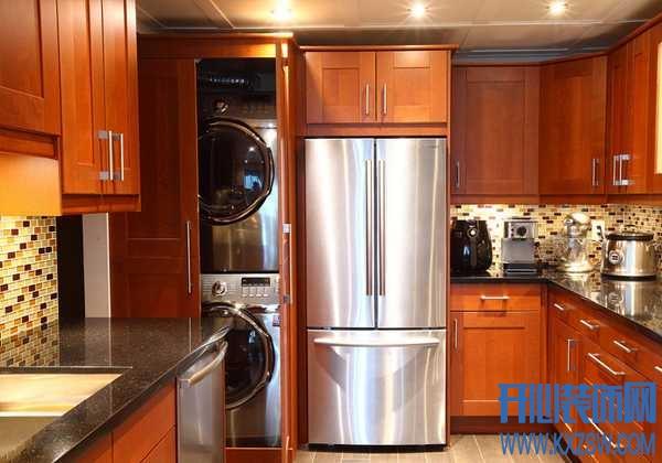 意想不到的洗衣机摆放,厨房空间成为洗衣机的摆放新宠