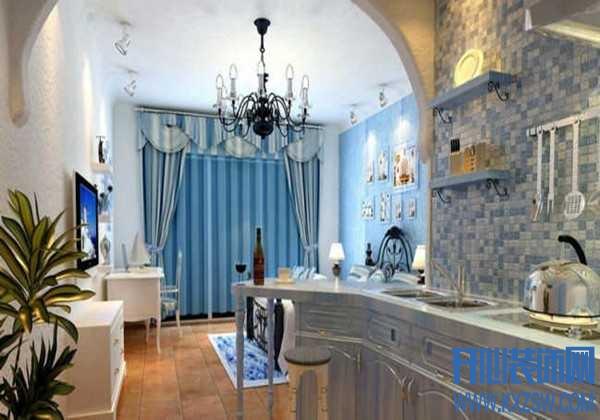 晕染海洋气息的地中海风情,厨房瓷砖搭配感受浩瀚气息