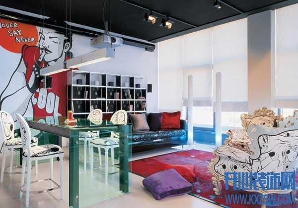 另类空间下的特立独行,波普风格室内设计只为潮人而来
