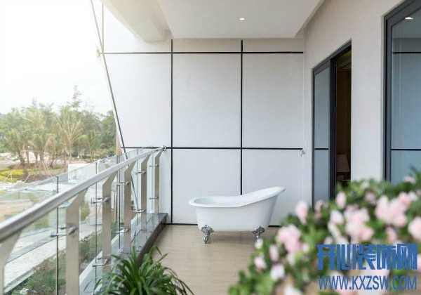 浴缸只能摆放在卫生间?NO!这样设计放在客厅或阳台也说得过去