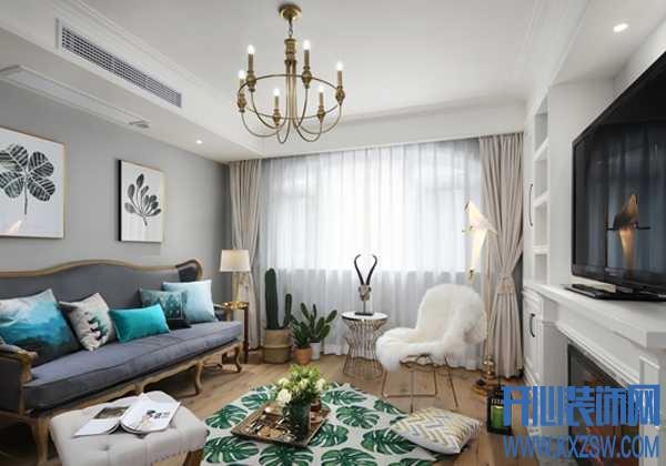 美式风格客厅如何设计,才能让悠闲、轻松,团聚与会客都刚刚好