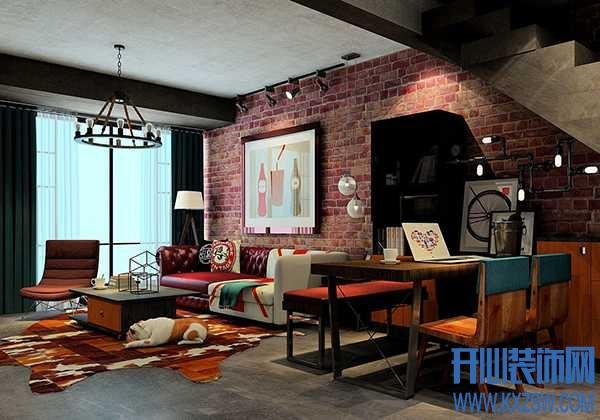 女生也爱的工业风,工业风格餐厅背景墙的创意设计