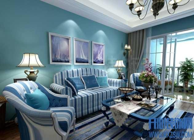 地中海风格沙发与地中海沙发背景墙搭配艺术