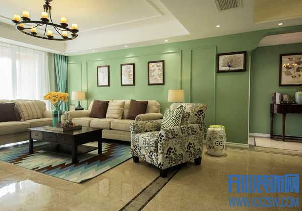 用薄荷绿墙面装修的房子,效果让人清新自然,格外清爽