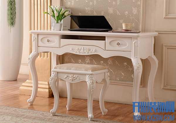 雕花细节突显欧式韵味,简雅佳家居旗舰店的雕花书桌价格贵吗?