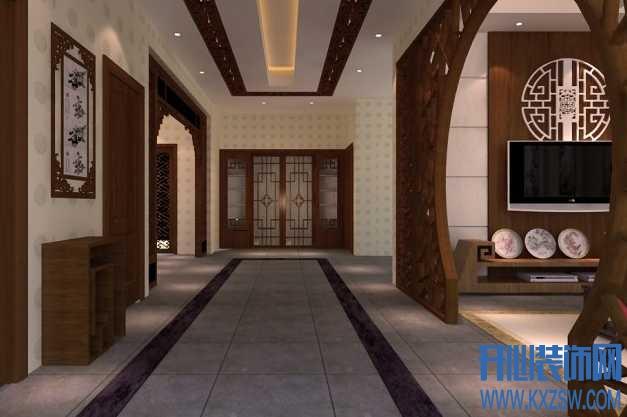 中式家装潮流空间之中式过道装修,中式过道装修设计要点你造吗