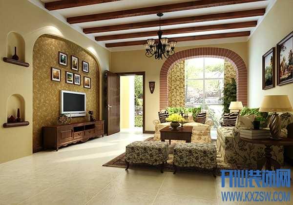 最有范儿的美式乡村客厅壁纸巧饰欣赏