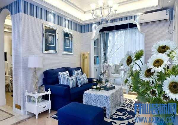 地毯选的好,构筑地中海浪漫客厅那都不是事儿
