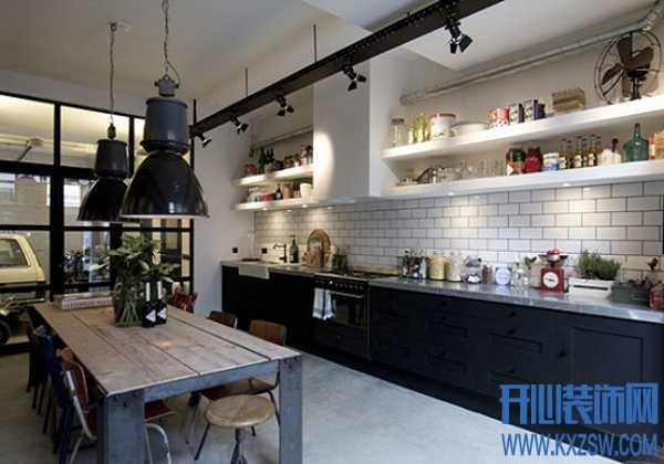 """工业风格橱柜演绎个性化厨房,装点厨房的""""军机重地"""""""