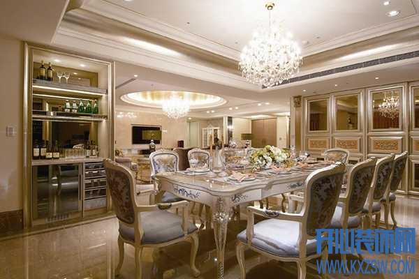 新古典风格餐厅的装修展示,品尝新古典餐厅复古韵味