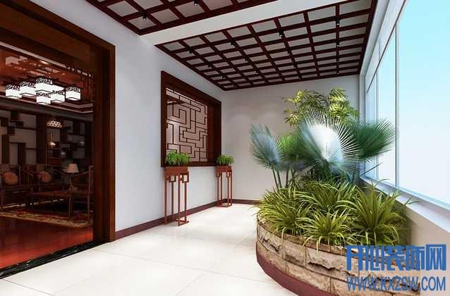 中式家装潮流空间之中式阳台设计,最具潮流的中式阳台搭配布局