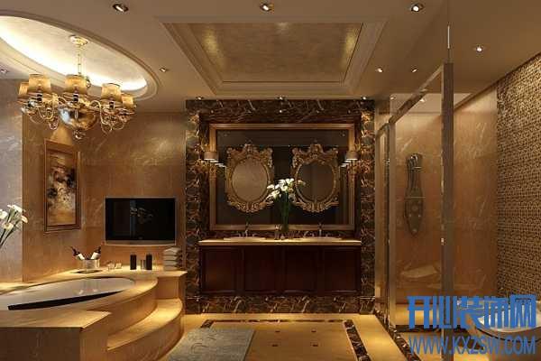 美式浴室装修效果赏析,铸就穿梭于古典与时尚的美式浴室